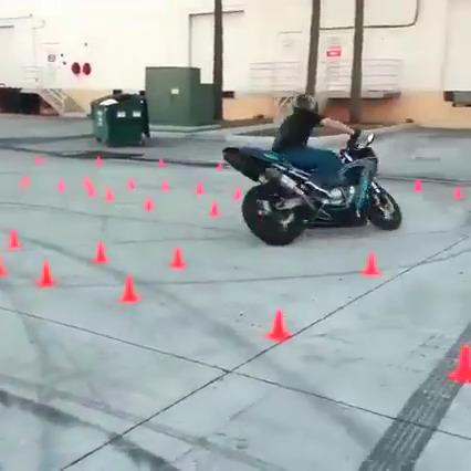 Passando cones com estilo