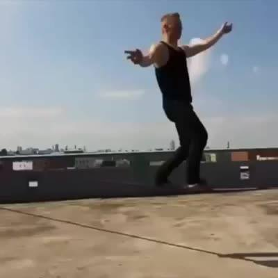 Slackline nível ninja