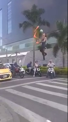 Melhor malabarista de semáforo