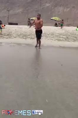 Primeira vez de um mineiro na praia