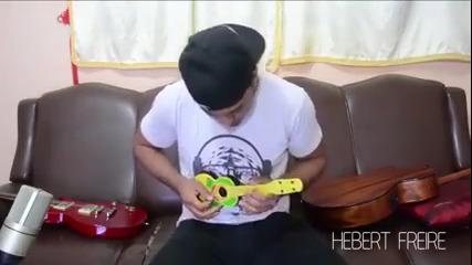 Callifornication no violão de brinquedo