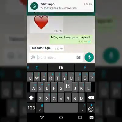 Mágica no WhatsApp