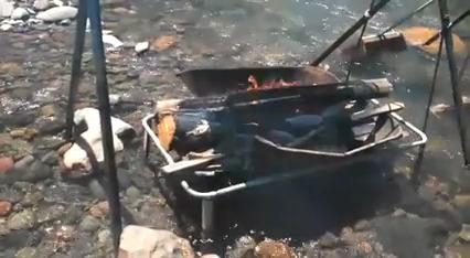 Costela assada na Cachoeira