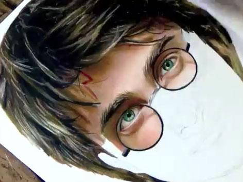 Desenhando Harry Potter