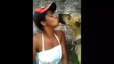 Beijo animal